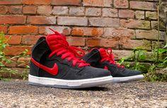 "Nike SB Dunk High Pro ""Black & Gym Red"" - EU Kicks: Sneaker Magazine"
