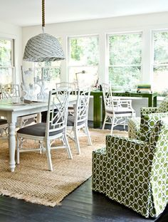 melanie turner green+white+natural office space