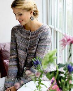 Strik selv: Trøje med riller på bærestykket