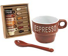 set di 6 tazzine caffe' + cucchiaini Espresso