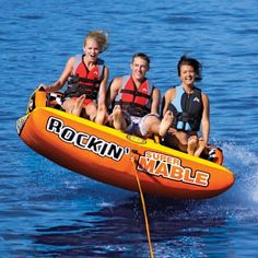 Order your Rockin Super Mable Inflatable Triple Rider Towable from Sportsstuff! Family Leisure, Sports Toys, Water Toys, Boat Rental, Rowing, Sports Equipment, South Beach, Water Sports, Kayaking