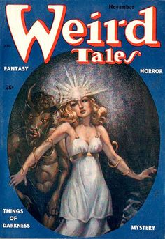 scificovers:  Weird Tales Nov 1953. Cover art byMargaret Brundage.
