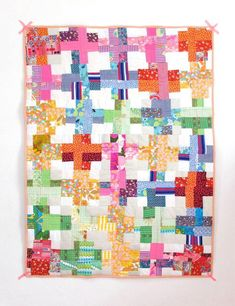 A scrap quilting project with a fun, wonky design is the Haphazard Scrapbuster Quilt.