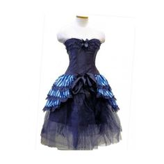 Blue Carnival Set ❤ liked on Polyvore featuring dresses