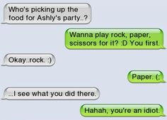 Epic text - Rock, paper, scissors  - http://jokideo.com/epic-text-rock-paper-scissors/