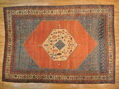 Antique Persian Bakshaish 14' x 19.5'