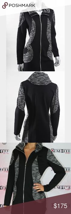 "Joseph Ribkoff Black and White Jacket Fall/Winter 2015 Collection. Excellent condition. Measurements: bust (without stretch) - 39"", length (armpit to hem)- 21.5"". 💫 Smoke free home. Offers are welcome! No trades, please. Bundle multiple items for a discount and only pay for shipping once! Joseph Ribkoff Jackets & Coats"