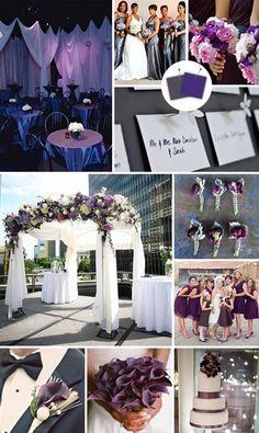plum and stone wedding color scheme