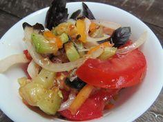 Салат из помидоров с кабачком   Кулинарные рецепты с фото пошагово