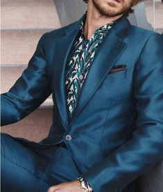 Ermenegildo Zegna silk suit in blue