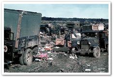 Sovjetisk tross utslagen av finska trupper i Porlammi den 3 september 1941. Foto SA-kuva. Om mottistriderna och finska anfall mot sovjetiska fordonskonvojer kan du läsa i två av böckerna i mitt kunskapspaket Finland i krig. Foto SA-kuva.