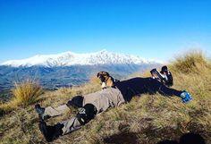 Grabbing a little downtime between runs. #mountainbike #adventure #winter #dog