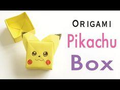 "Easy☺︎ Origami Paper Pokemon ""Pikachu"" Box With Lid Tutorial - Origami Kawaii〔#161〕 - YouTube"