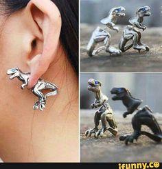 Dinosaur earrings. LEGIT!!