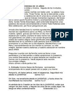 Pin De Yeifrid Gil En 15 Fiesta De 15 Años Protocolo De Quinceañera Palabras De 15 Años
