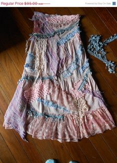 raggedy gypsy style skirt- Could be a good craft/diy project for someone with sewing skills.