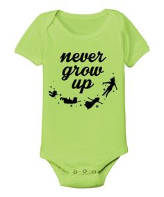 Key Lime 'Never Grow Up' Bodysuit - Infant