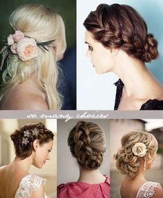 Beautiful hair arrangements for weddings