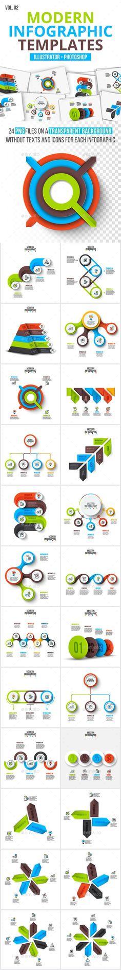 Modern infographic pack v.02 - #Infographics