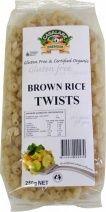 Casalare Organic Brown Rice Twists Ingredients: Certified Organic Stone-ground Brown Rice Flour, Water