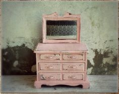 Shabby Hollywood Pink French Dresser Jewelry by PoorPitifulPetunia, $92.00