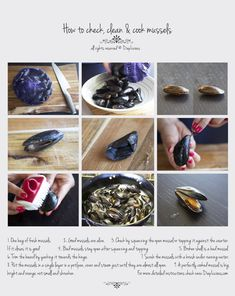 HOW TO CHECK, CLEAN & COOK MUSSELS - DiepLicious Seafood Dishes, Seafood Recipes, Cooking Recipes, How To Clean Clams, Cajun Boil, Pre Made Meals, Recipes From Heaven, Cheap Meals, Cheap Food