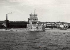 La tour de Belém. Avant 1949. Photo de Eduardo Portugal. AML PT/AMLSB/POR/057291