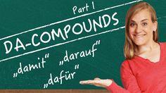 German Lesson - Da-Compounds - Part 1: dafür - damit - darauf - B1