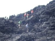 Hiking.... to the top of a volcano! check.,