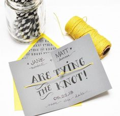free printable 'tying the knot' save the date