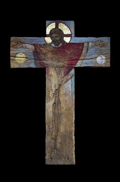 Christ céleste bois ancien – Augustin Frison-Roche
