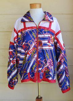 Vintage 1980s Nautical Windbreaker Jacket by by founditinatlanta, $32.00