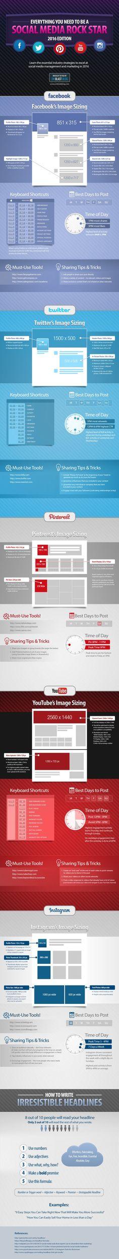 [Cool Infographic Friday] The Latest Social Media Image Sizes - SocialFish