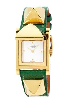 Hermes Women's Medor Gold Vermeil Watch by Designer Estate Watches on @HauteLook