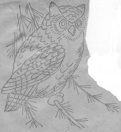 Vintage Crafty Saturdays – FREE Lamb, Bunny and Owl Vintage Embroidery Patterns Owl Embroidery, Embroidery Patterns Free, Vintage Embroidery, Cross Stitch Embroidery, Owl Patterns, Vintage Patterns, Quilt Patterns, Owl Quilt Pattern, Owl Crafts