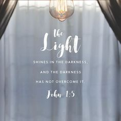 The light shines in the darkness and the darkness has not overcome it. John 1:5 (scheduled via http://www.tailwindapp.com?utm_source=pinterest&utm_medium=twpin)