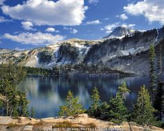 Eagle Cap Peak above Mirror Lake in Eagle Cap Wilderness in Wallowa County, Oregon