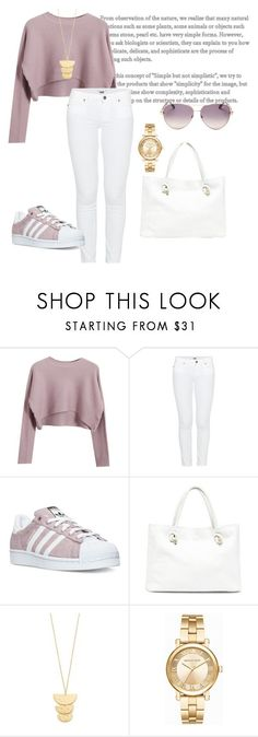 Untitled #4 by rwenx ❤ liked on Polyvore featuring Chicnova Fashion, Paige Denim, adidas, Sole Society, Gorjana, Michael Kors and Roberto Cavalli