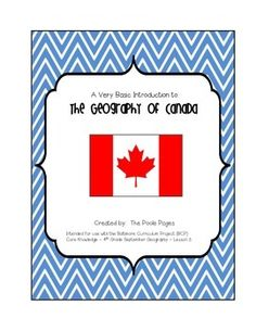This product is a very basic introduction to the geography of Canada. I teach the Core Knowledge Social Studies curriculum, and this correlates with BCP Grade September Geography - Lesson Geography Of Canada, All About Canada, Social Studies Curriculum, Geography Lessons, Core, Knowledge, Study, Teaching, School Stuff