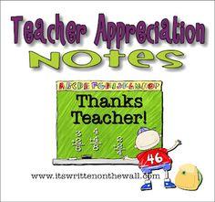 Free Teacher Appreciation Printables.