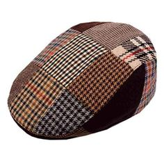 Buy Men's Patchwork Wool Duckbill Ivy Newsboy Caby Irish Tweed Cap Hat and more Men's Newsboy Caps enjoy big discount up to off, fast shipping all worldwide. Mens Fashion Wear, Fashion Hats, Fashion Outfits, Crochet Newsboy Hat, Celtic Clothing, Flat Hats, Winter Hats For Men, Fancy Hats, News Boy Hat