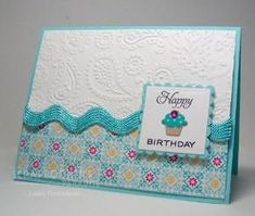 cuttlebug card ideas | Scrapnextras: Simple Cupcakes by joanne