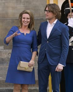 Princess Annette and Prince Bernhard of The Netherlands leave the Royal Palace after brunch with King Willem Alexander and Queen Maxima of The Netherlands on May 1, 2013 in Amsterdam Netherlands