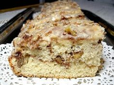 Cinnamon-Swirl Coffee Cake(BHG recipe)Ingredients 1-1/3 cups sugar 1/2 cup finely chopped pecans or walnuts, toasted 2 teaspoons ground cinnamon 2 cups all-purpose flour 1 teaspoon baking powder 1/2 teaspoon salt 1 egg 1 cup milk 1/3 cup cooking oil Directions 1. Preheat oven to 350 degrees F. Grease and flour the bottom and 1/2 inch up the sides of a 9x5x3-inch loaf pan. In a small bowl, combine 1/3 cup of the sugar, the nuts, and cinnamon; set aside. In a large bowl, combine the…
