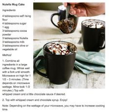 Highly recommended. Even better: the leftovers cold from the fridge for breakfast. Chocolate Mug Brownies, Nutella Mug Cake, Chocolate Mugs, Chocolate Syrup, Chocolate Hazelnut, Delicious Chocolate, Chocolate Chips, Nutella Recipes, Cake Recipes