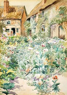 Edmund Henry Garrett (American, 1853–1929). Cottage Garden, Warwick, England. The Metropolitan Museum of Art, New York. Gift of Mr. and Mrs. Stuart P. Feld, 1977 (1977.426) #spring