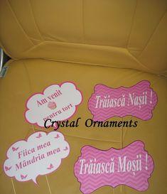 Mesaje personalizate pentru nunta, din carton de 350grmp. La comanda se personalizeaza cu mesajul sau poza dorita. Ornaments, Crystals, Crystal, Christmas Decorations, Ornament, Crystals Minerals, Decor