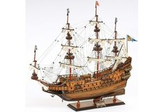 """This is Museum-quality, Fully Assembled edition of the Wasa. It is part of an exclusive edition where the hull is laser cut with a unique serial number. The model is 100% hand built from scratch using """"plank on frame"""" construction method.Our master craftsmen have spent more than 100 hours to finish it.One bold feature that makes this model standout is the art of wood use. Rosewood, mahogany, teak and other exotic woods are carefully selected to accent each part of the mod..."""