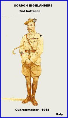 BRITISH ARMY - Gordon Highlanders 2nd Battalion, Quatermaster, Italy 1918