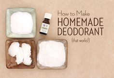 Homemade deodorant recipe using essential oils